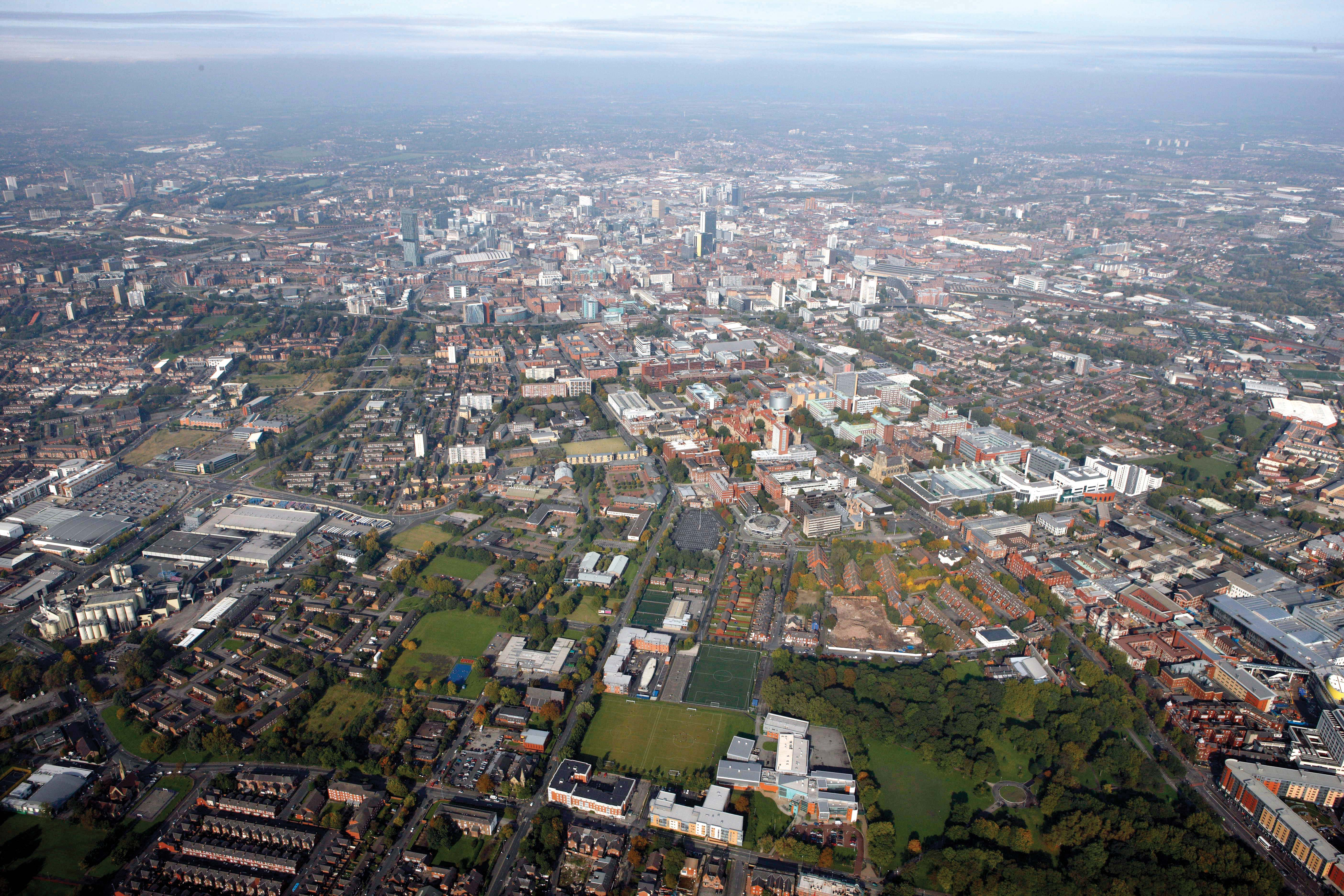 Manchester from above - photo from Daniel Nisbit via Flickr